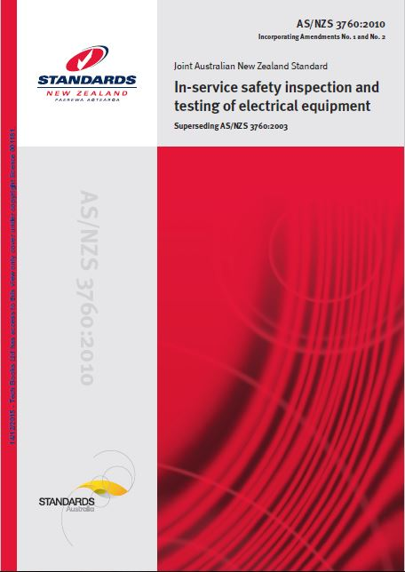 NZ Standards AS/NZ3760 Service Safety inspection& Testing Electrical Equipment